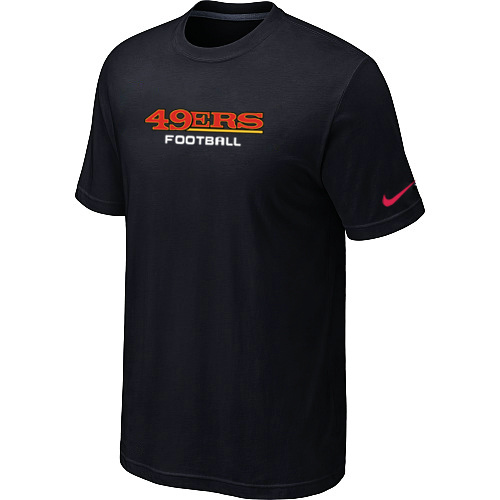 Nike San Francisco 49ers Sideline Legend Authentic Font Dri-FIT T-Shirt Black