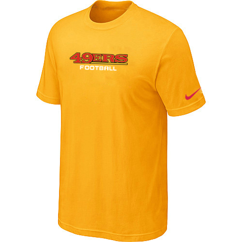 Nike San Francisco 49ers Sideline Legend Authentic Font Dri-FIT T-Shirt Yellow