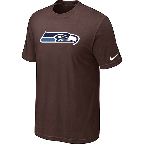 Nike Seattle Seahawks Sideline Legend Authentic Logo Dri-FIT T-Shirt Brown