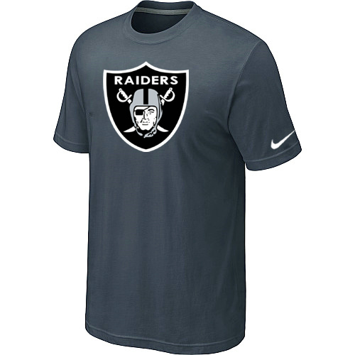 Oakland Raiders Sideline Legend Authentic Logo Dri-FIT T-Shirt Grey