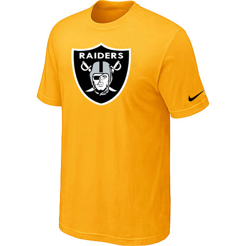 Oakland Raiders Sideline Legend Authentic Logo Dri-FIT T-Shirt Yellow