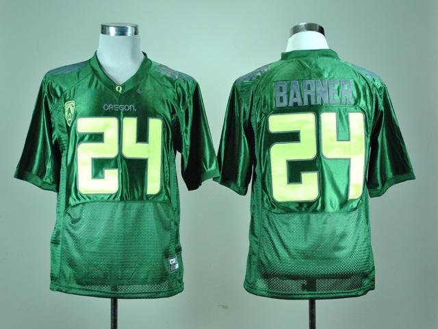 Nike Oregon Ducks Kenjon Barner 24 Green Pro Combat Pac-12 College Football Jersey