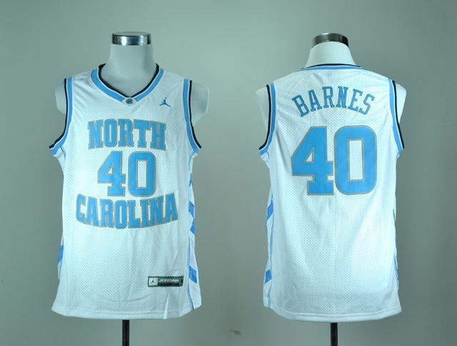 North Carolina Tar Heels Harrison Barnes 40 White College Basketball Jersey