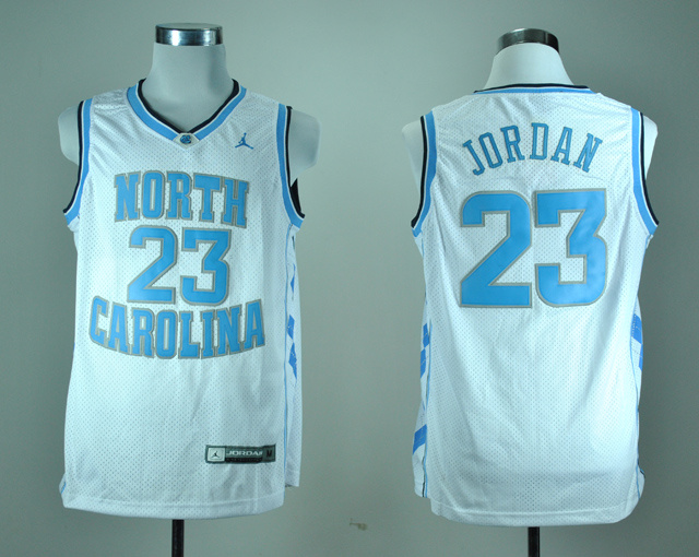 North Carolina Tar Heels Michael Jordan 23 White College Basketball Jersey
