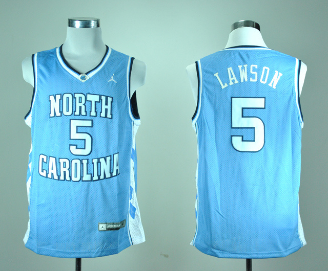 North Carolina Tar Heels Ty Lawson 5 Blue College Basketball Jersey