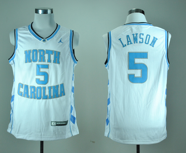 North Carolina Tar Heels Ty Lawson 5 White College Basketball Jersey