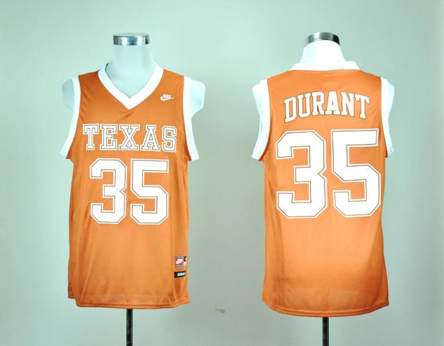 Nike Texas Longhorns Kevin Durant 35 Burnt Orange College Basketball Jersey