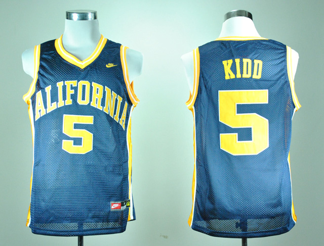 Nike California Golden Bears Jason Kidd 5 Navy Blue College Basketball Jersey