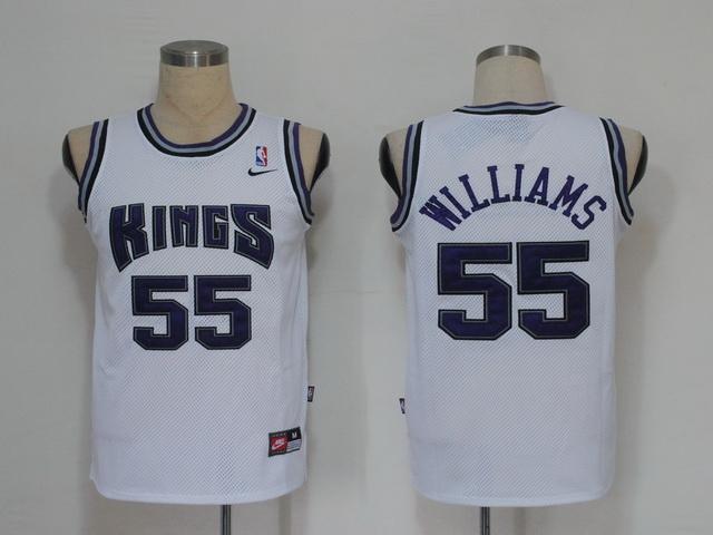NBA Jerseys Sacramento Kings 55 Williams white