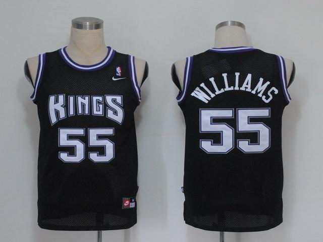 NBA Jerseys Sacramento Kings 55 Williams Black