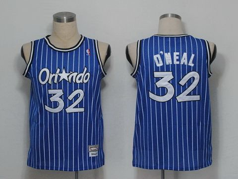 NBA Jerseys Orlando Magic 32 O`Neal Blue(pinstripes)