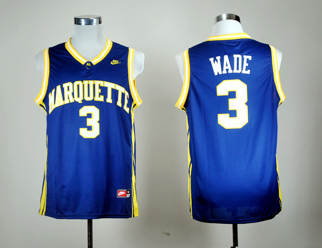 Nike Marquette Golden Eagles Dwyane Wade 3 Navy Blue College