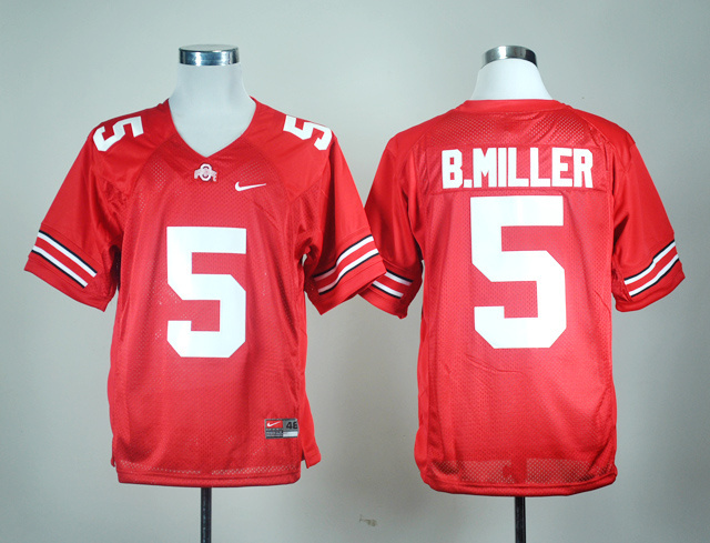 NCAA Ohio State Buckeyes 5 b.miller red football jersey