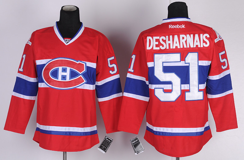 NHL Hockey Montreal Canadiens 51 David Desharnais red