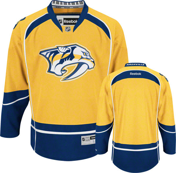 Nashville Predators Blank Yellow Premier Home NHL Jersey
