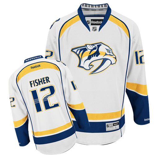 NHL Jerseys Nashville Predators 12 Fisher white