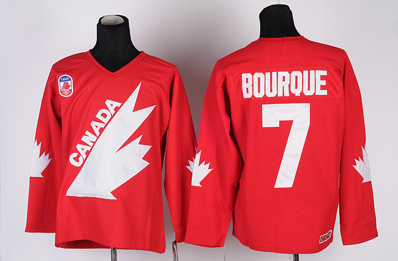 Ray Bourque 7 Team Canada CCM 1991 Canada Cup Red