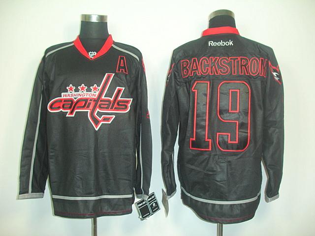 Washington Capitals 19 Nicklas BACKSTROM black NHL Jerseys