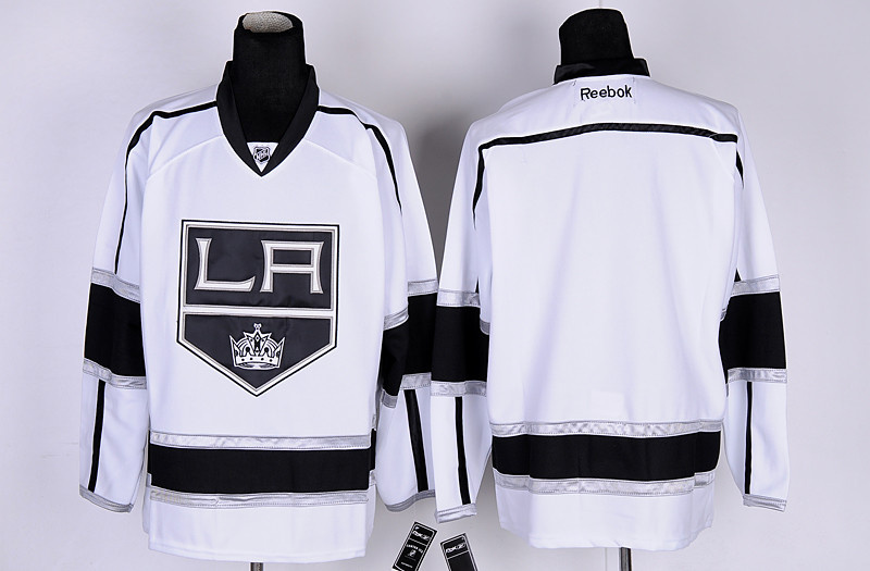 NHL Jerseys Los Angeles Kings Blank White Hockey Jersey