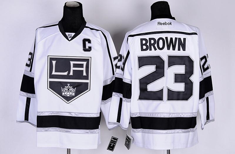NHL Los Angeles Kings 23 Dustin Brown White Jersey