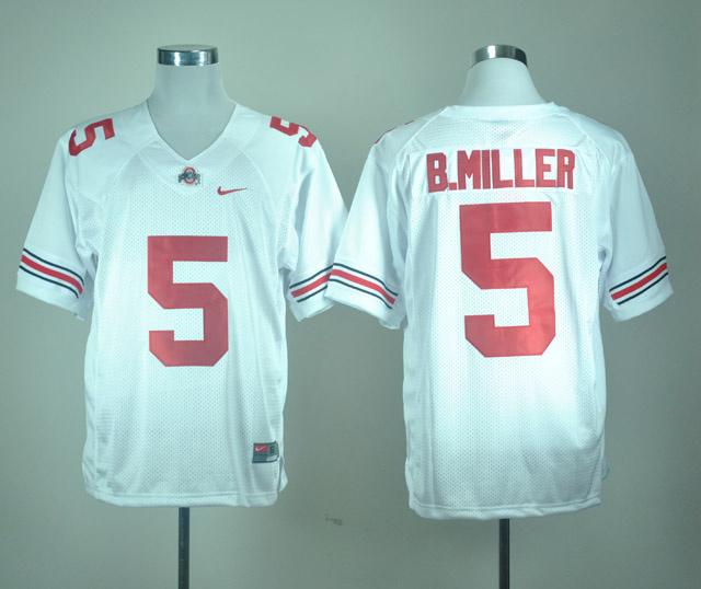 NCAA Ohio State Buckeyes 5 Baxton Miller white Jersey