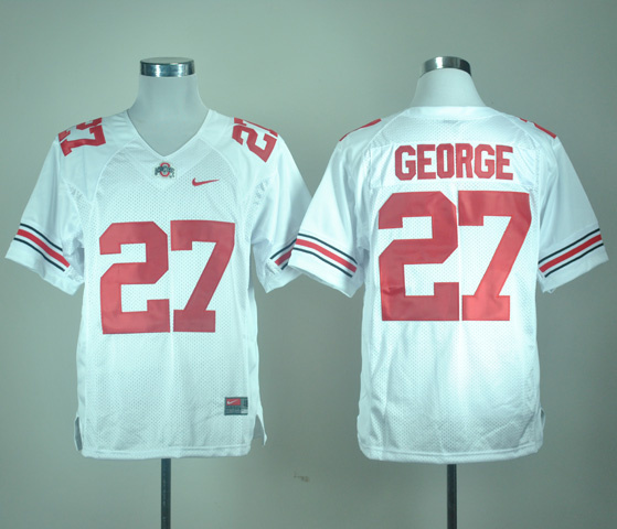 NCAA Ohio State Buckeyes 27 GEORGE white jerseys