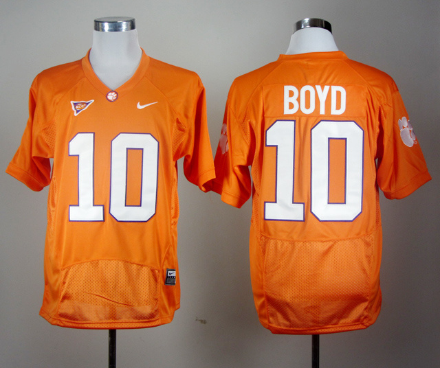 NCAA Clemson Tigers Tajh Boyd 10 Orange Pro Combat College