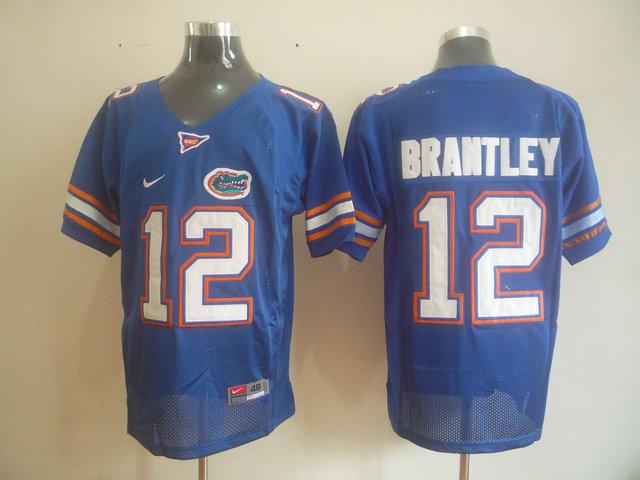 NCAA Florida Gators 12 BRANTLEY Blue jerseys