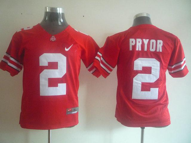 NCAA Ohio State Buckeyes 2 PRYOR youth Red jerseys