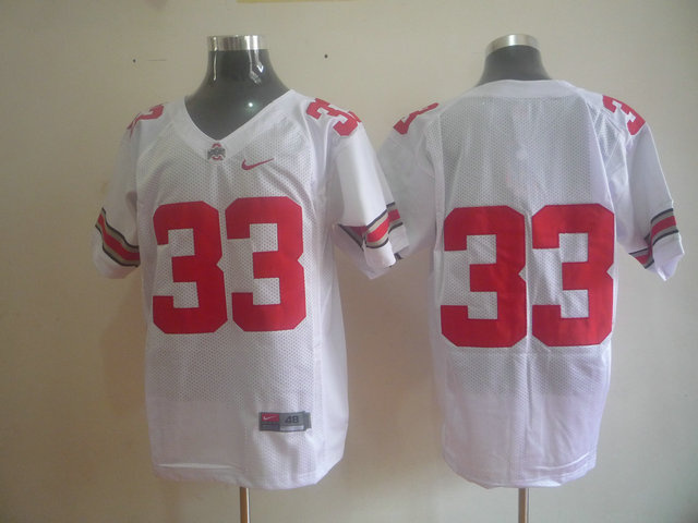 NCAA Ohio State Buckeyes 33 White jerseys
