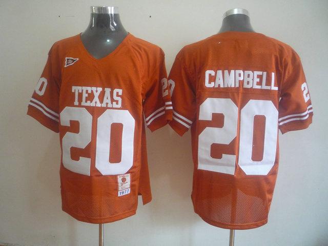 NCAA Texas Longhorns 20 CAMPBELL orange jerseys