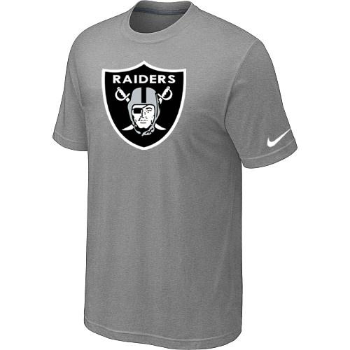 Oakland Raiders Sideline Legend Authentic Logo Dri-FIT T-Shirt Light grey