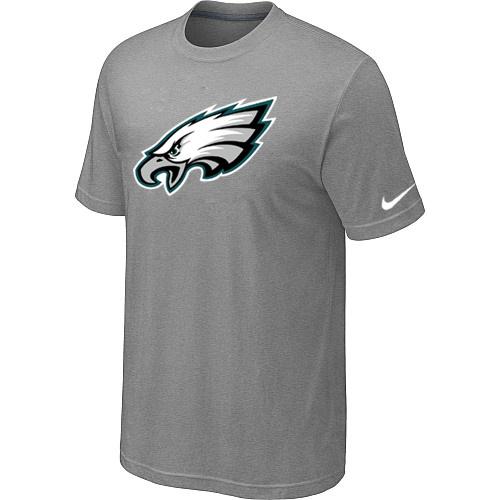 Philadelphia Eagles Sideline Legend Authentic Logo Dri-FIT T-Shirt Light grey