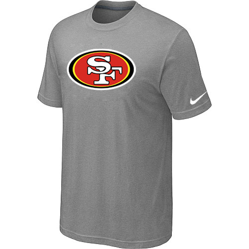 San Francisco 49ers Sideline Legend Authentic Logo Dri-FIT T-Shirt Light grey