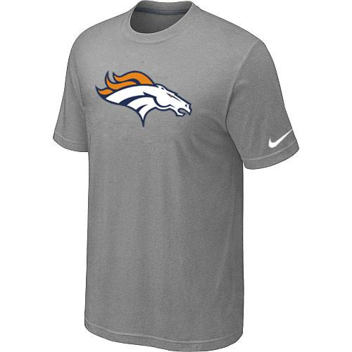 Denver Broncos Sideline Legend Authentic Logo Dri-FIT T-Shirt Light grey