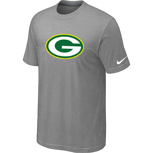 Green Bay Packers Sideline Legend Authentic Logo Dri-FIT T-Shirt Light grey