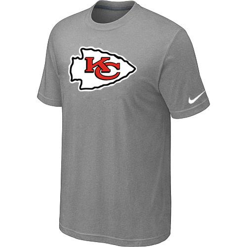 Kansas City Chiefs Sideline Legend Authentic Logo Dri-FIT T-Shirt Light grey