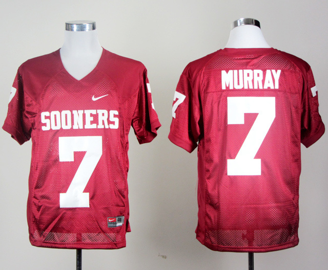 NCAA Oklahoma Sooners 7 DeMarco Murray Red Jerseys
