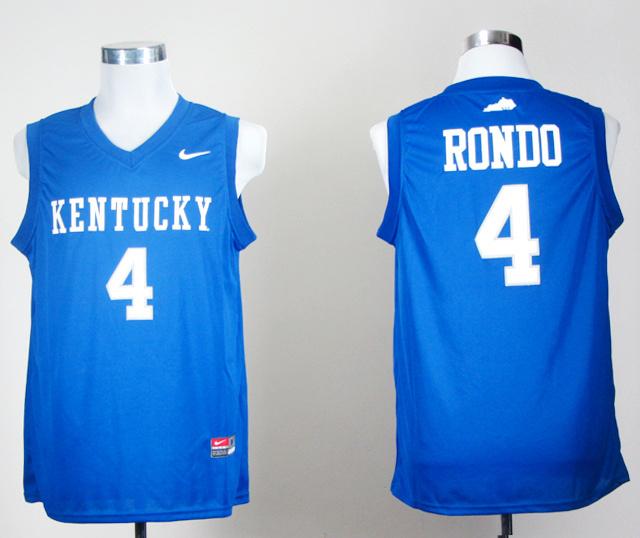 NBA NCAA Kentucky Wildcats 4 rondo blue jerseys