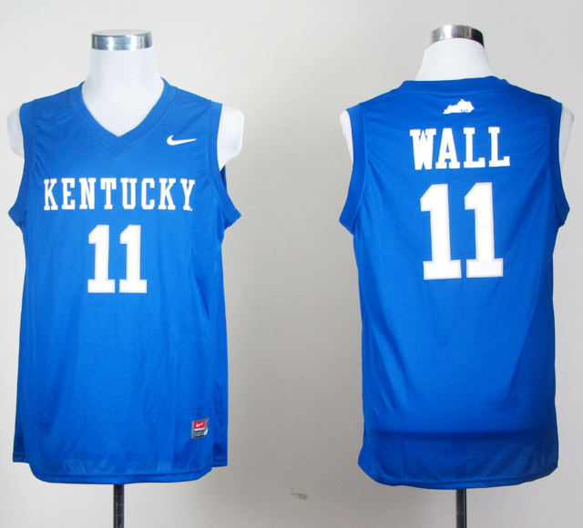 NBA NCAA Kentucky Wildcats 11 wall blue jerseys