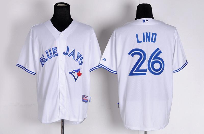 MLB Toronto Blue Jays 26 Lind white Alternate Jersey