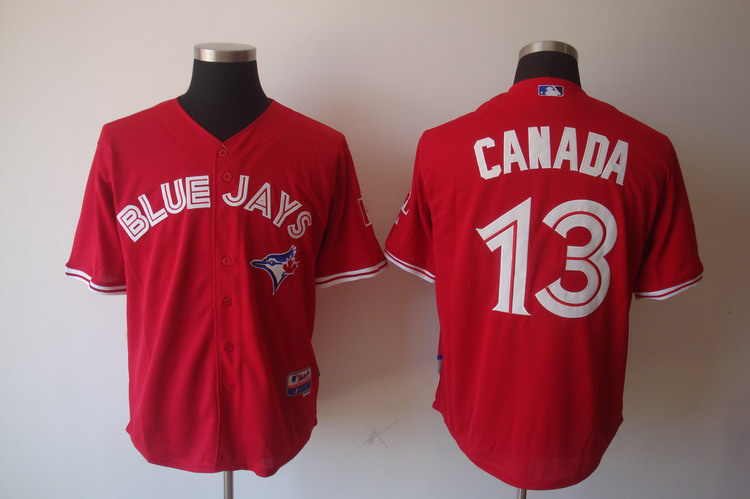 MLB Toronto Blue Jays 13 Brett Lawrie Canada Day Jersey