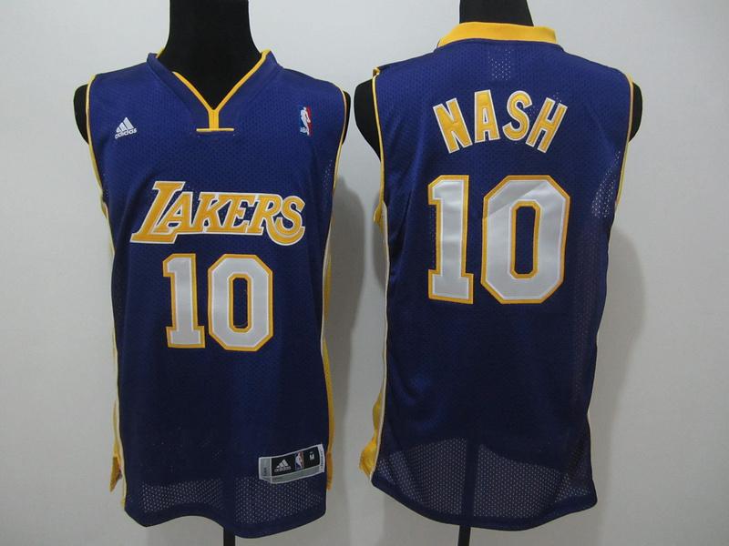 NBA Los Angeles Lakers 10 nash purple jerseys