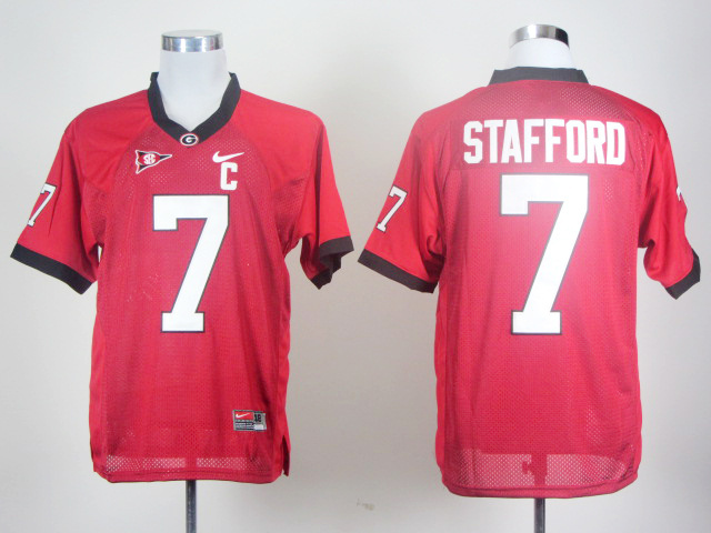 NCAA Georgia Bulldogs 7 stafford Red Football Jersey