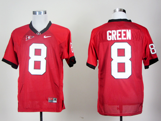 NCAA Georgia Bulldogs 8 AJ Green Red College Football jerseys