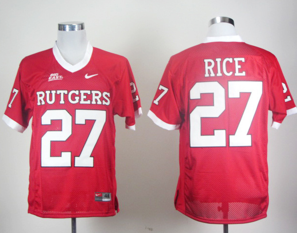NCAA Rutgers Scarlet Knights 27 Ray Rice Red Color Jersey