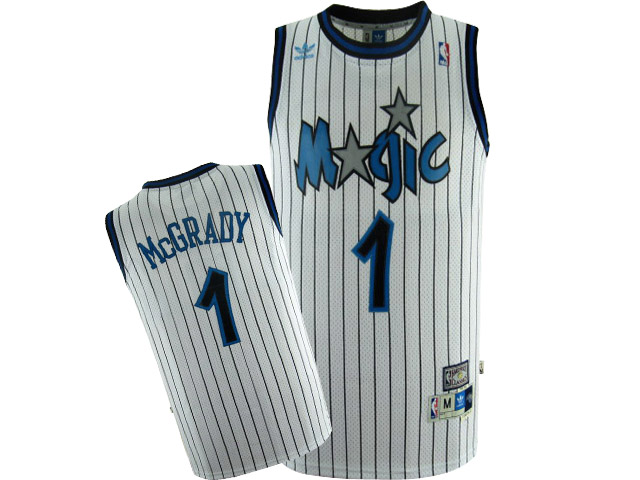 NBA 1 white Orlando Magic Tracy McGrady Home Jerseys