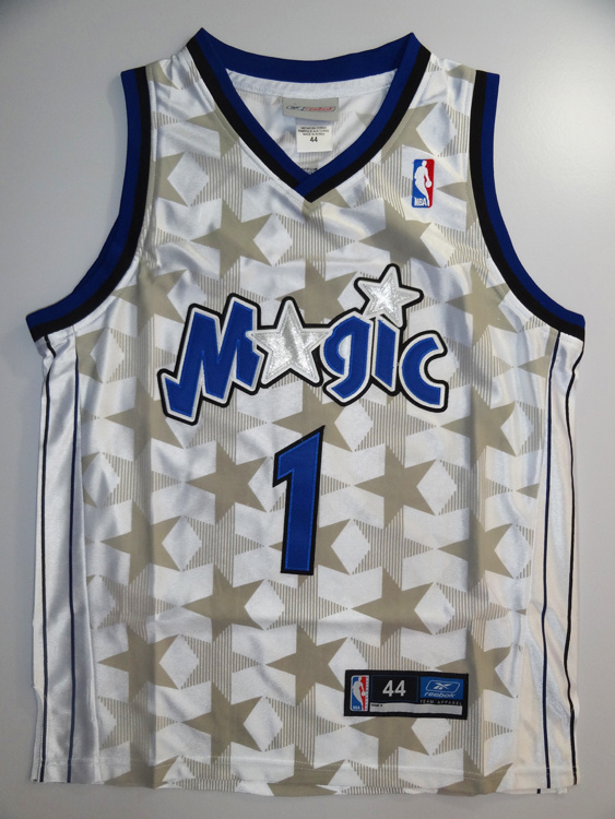Orlando Magic 1 Tracy McGrady White Jersey