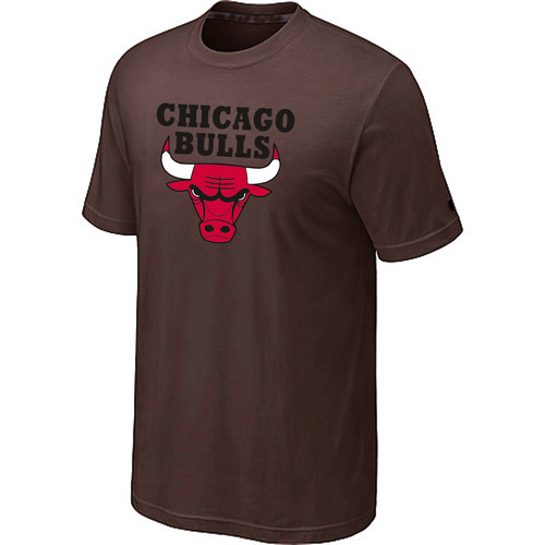 Chicago Bulls Big & Tall Primary Logo Brown T-Shirt