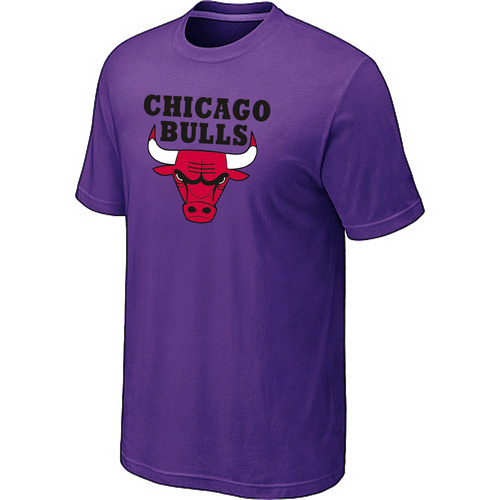 Chicago Bulls Big & Tall Primary Logo Purple T-Shirt